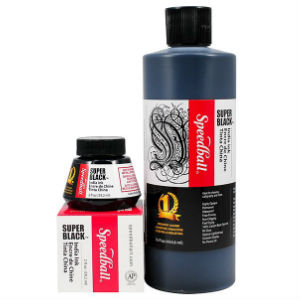 Speedball® India Ink - Super Black (60ml/480ml)